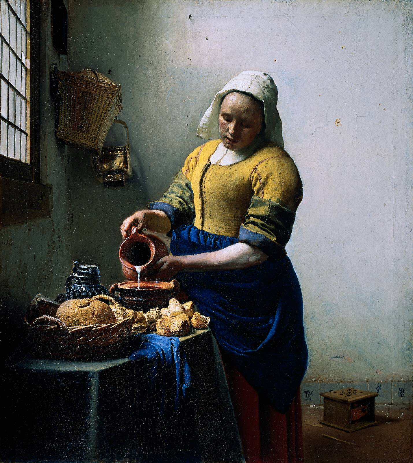Webmuseum vermeer jan the kitchen maid for Kitchen paintings pictures