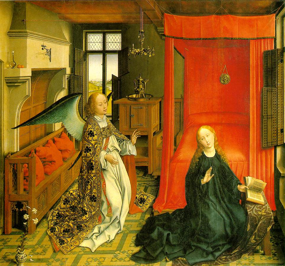 WEYDEN, Rogier van der Annunciation Triptych (central panel) c. 1440