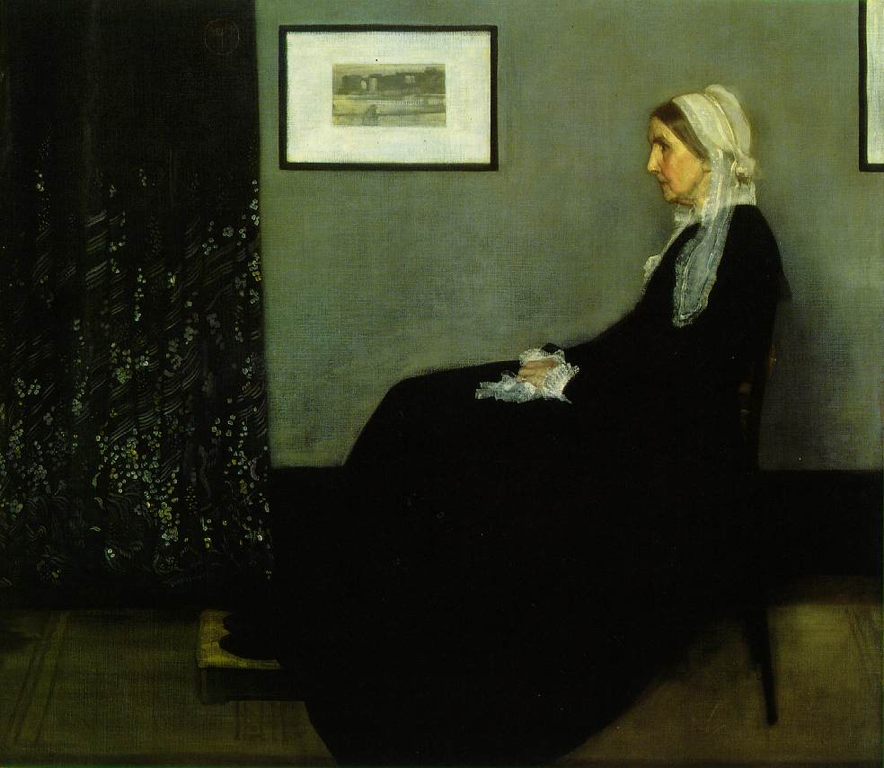 Webmuseum whistler james abbott mcneill for Paint a dark picture