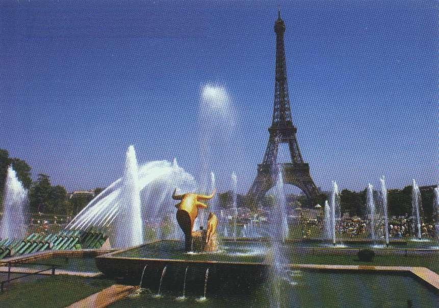 Image d Paris Eiffel.taureaux