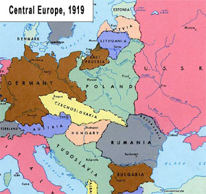 map europe 1919 after ww1