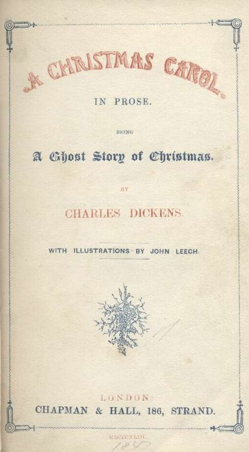 When Was A Christmas Carol Written.Dickens Christmas Carol