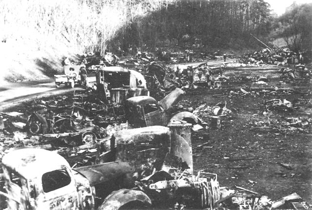 Image result for ww2 germans destroyed vehicles in the ardennes