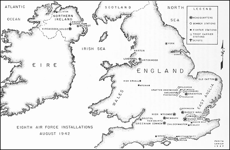 HyperWar Army Air Forces In WWII Volume I Plans And Early - Map of us air force installations