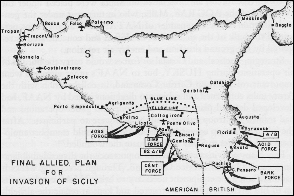 final allied plan for invasion of sicily