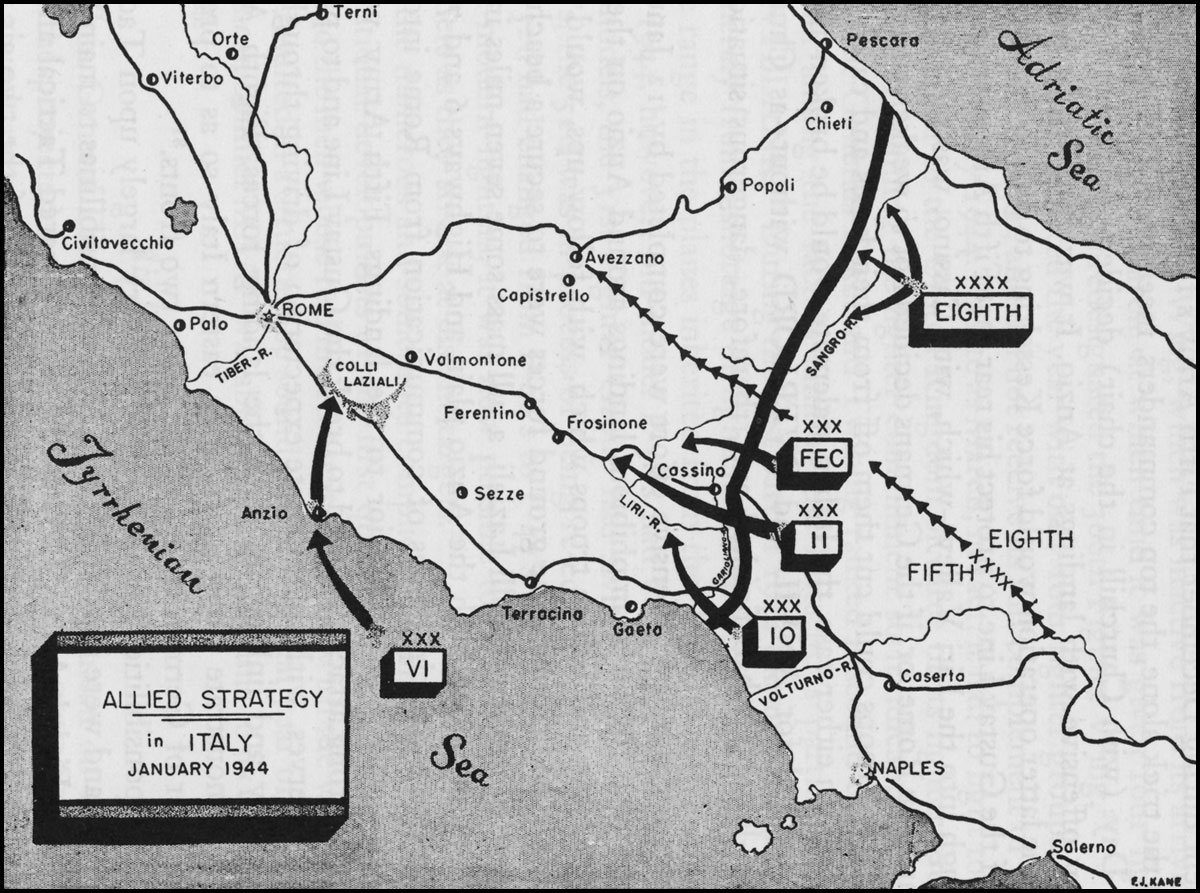 Hyperwar army air forces in wwii vol iii allied strategy in italy january 1944 gumiabroncs Gallery