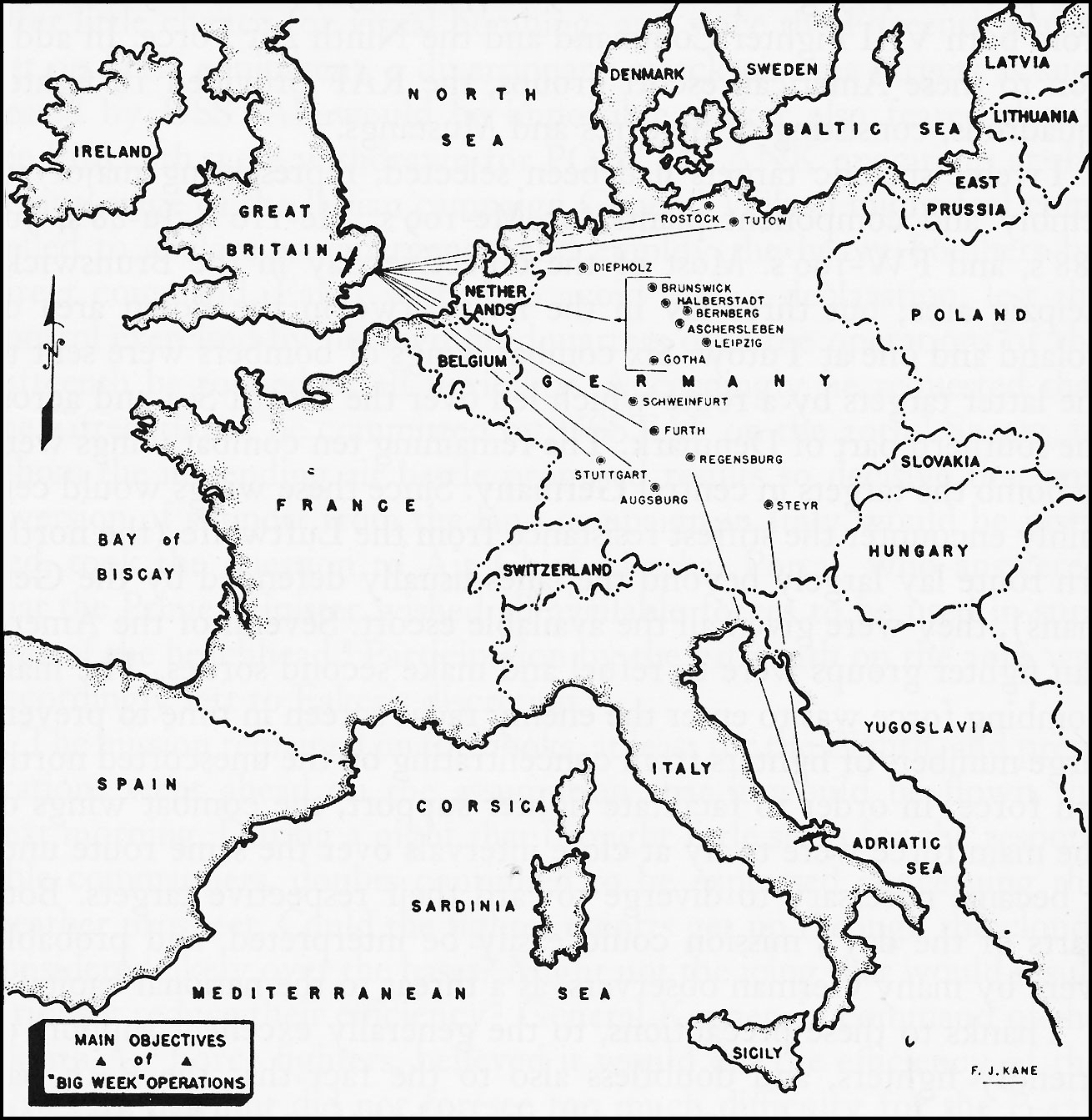 Hyperwar army air forces in world war ii volume iii europe image map no 1 main objectives of gumiabroncs Gallery
