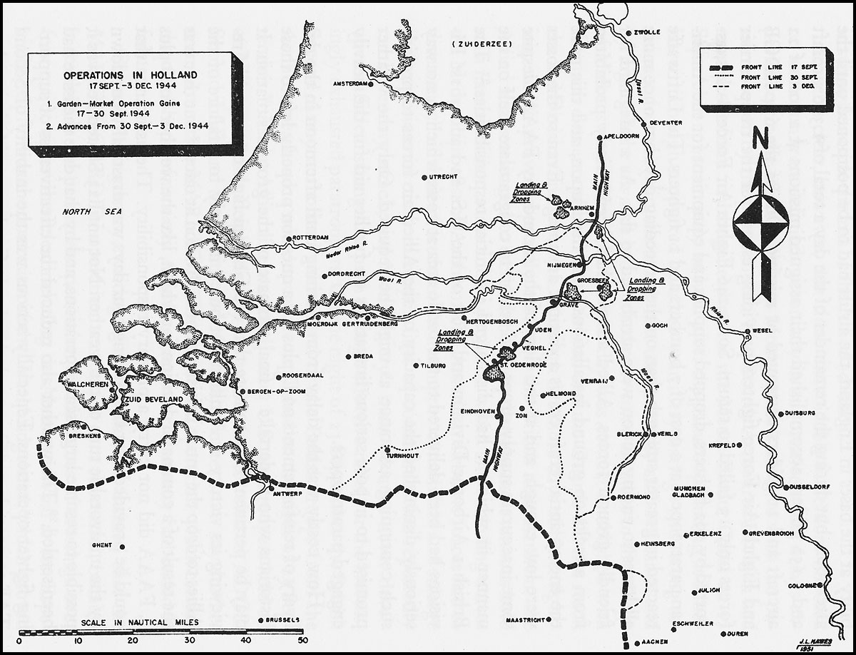hyperwar army air forces in world war ii volume iii europe 45th Infantry Division map operations in holland 17 sept 9 dec 1944