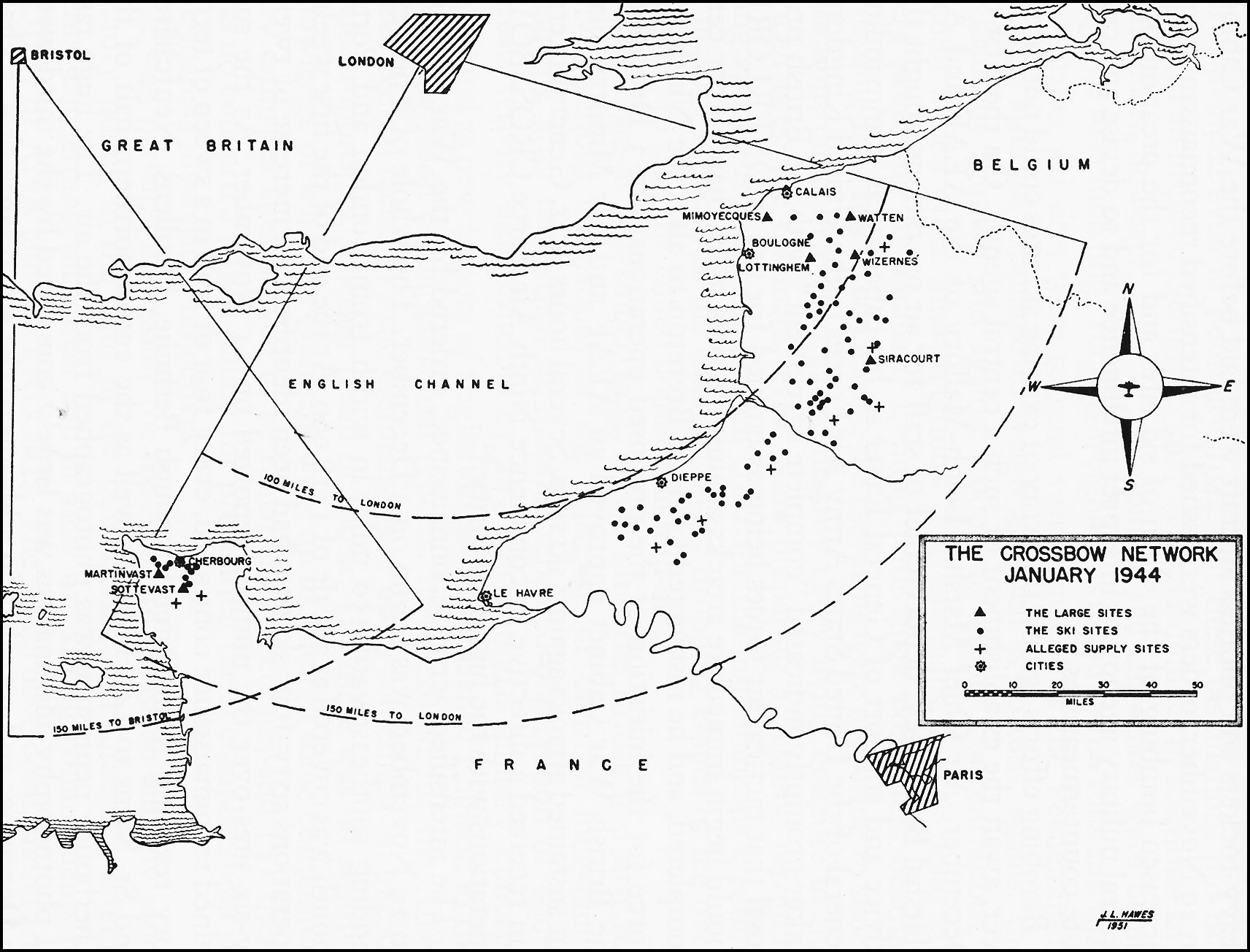 hyperwar army air forces in world war ii volume iii europe Midieval Crossbow Diagram map the crossbow network january 1944