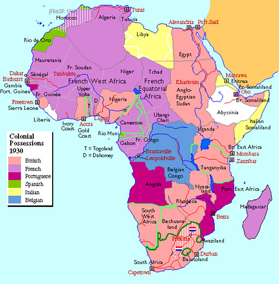 Map Of Africa During Ww2 | Jackenjuul