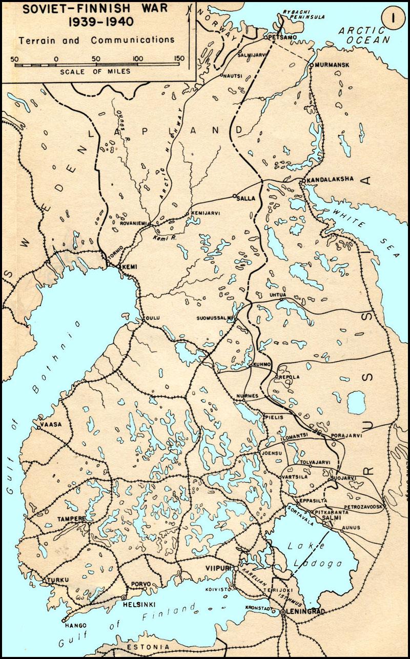 Hyperwar the soviet finnish war 1939 1940 usma map soviet finnish war 1939 1940 terrain and communications gumiabroncs Gallery