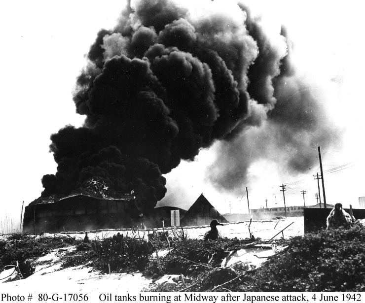Damage on Midway from the 4 June 1942 Air Attack