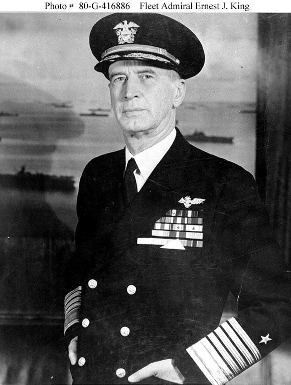 Us People King Ernest J Fleet Admiral Usn