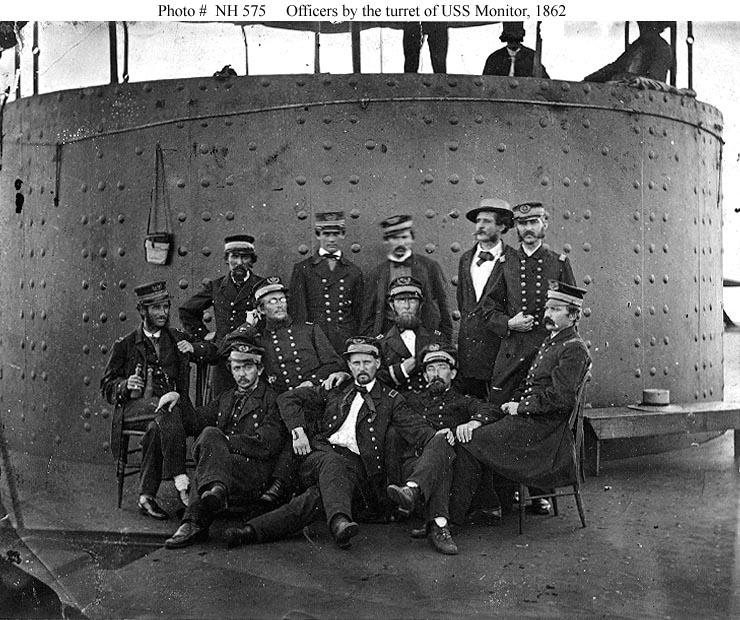usn ships uss monitor 1862 views on board photographs
