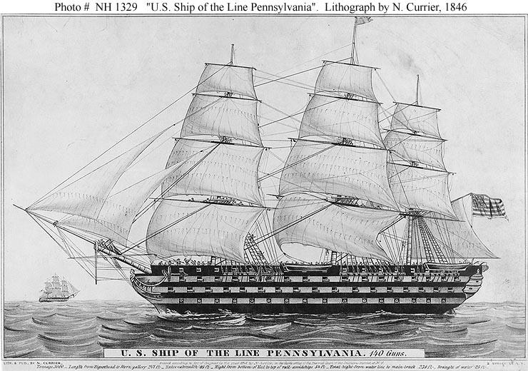 Resultado de imagen de PENNSYLVANIA 1861 uss