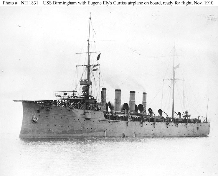 Events Eugene Ely S Flight From Uss Birmingham 14