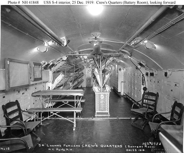 USN Ships  USS S 4 (Submarine # 109, Later SS 109)    Interior Views, 1919