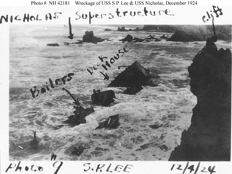 USN Ships--USS S.P. Lee (DD-310) -- Wrecked at Honda Point ...