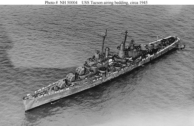 USN Ships--USS Tucson (CL-98, later CLAA-98)