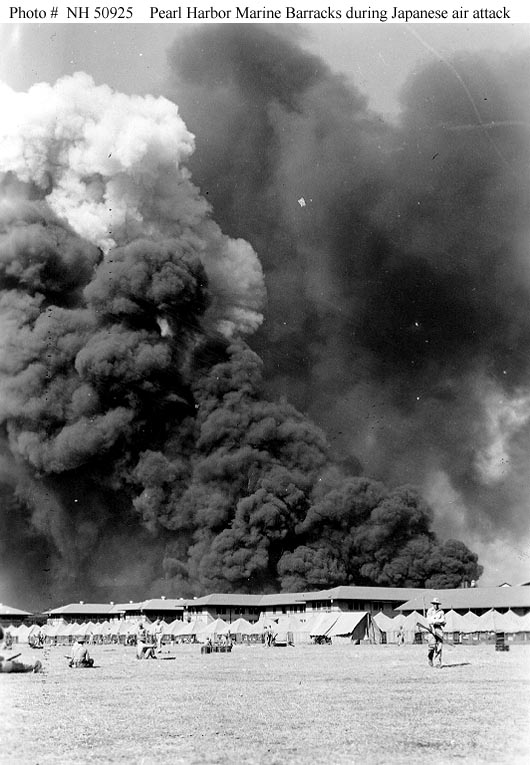 an account of events during the pearl harbor attack of 1941 At 755am on sunday 7 december 1941, the first of two waves of japanese aircraft began their deadly attack on the us pacific fleet, moored at pearl harbor on the pacific island of oahu.