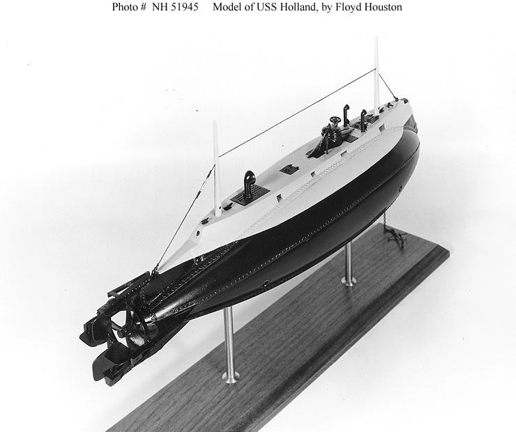 USN Ships--USS Holland (Submarine # 1) -- Plans, Models ...