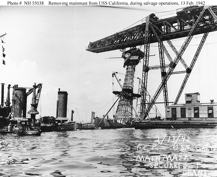 Pearl Harbor Raid Post Attack Ship Salvage
