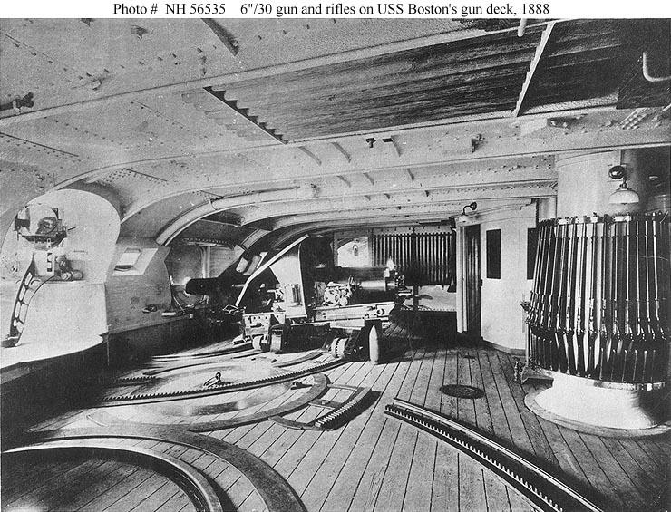 Usn Ships Uss Boston 1887 1946 Miscellaneous On