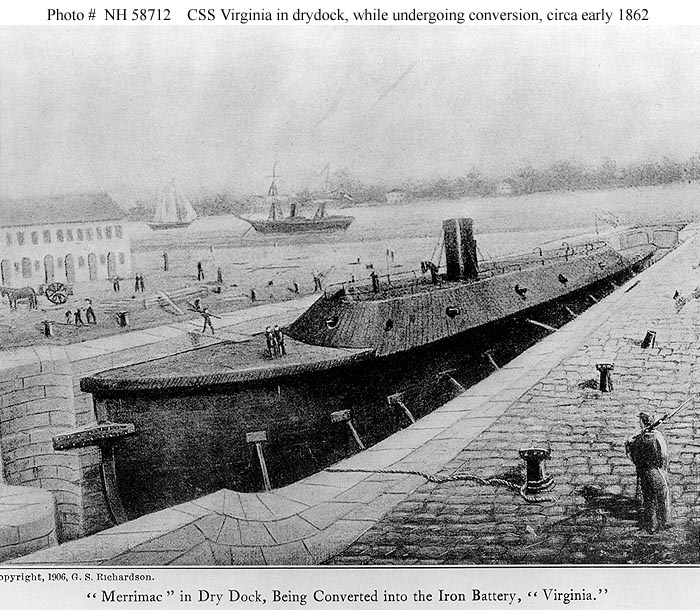 an examination of the naval battle between uss monitor and css merrimack The most famous naval battle of the civil war occurred off the coast of hampton roads between the ironclads known as the css virginia and the uss monitor how to search the catalogs: conduct a keyword or subject search heading in the catalog using the following examples of library of congress subject headings.