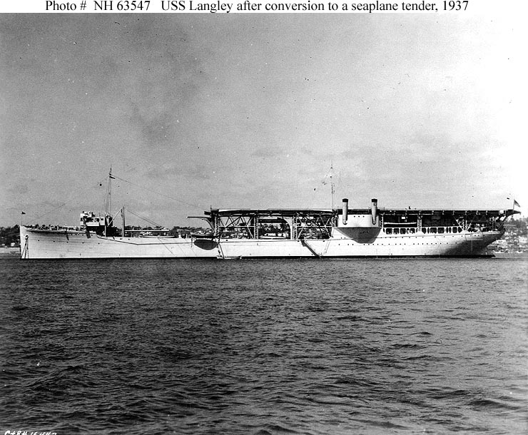 USN Ships--USS Langley (CV-1, later AV-3)