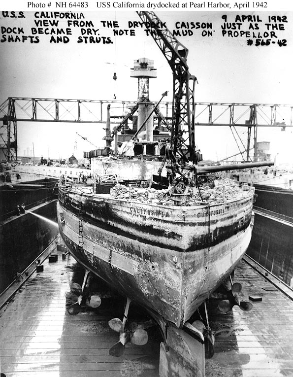 Pearl Harbor Raid Post Attack Ship Salvage