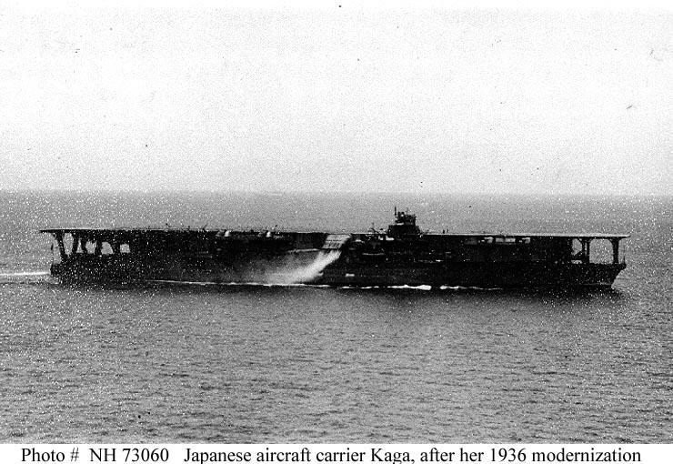 Japanese Navy Ships--Kaga (Aircraft Carrier, 1926-1942)