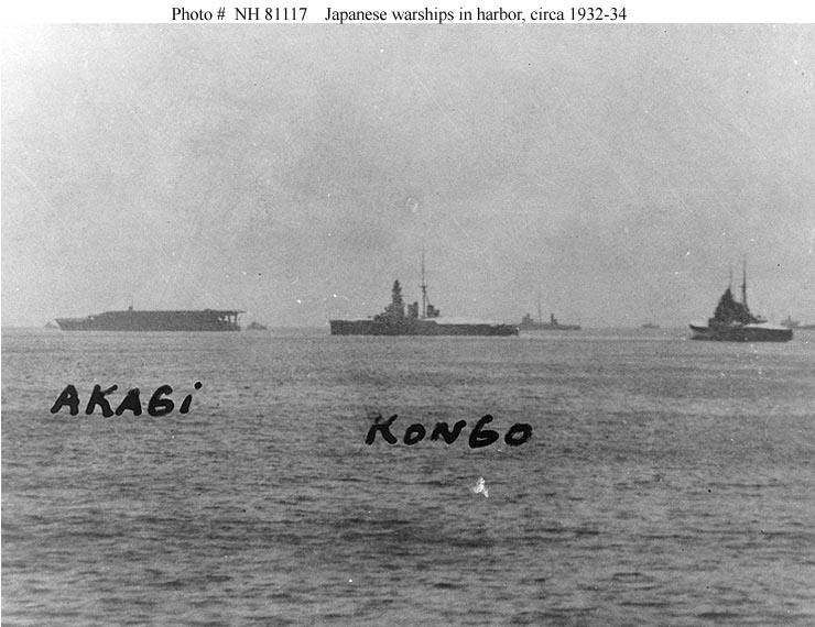 Japanese Navy Ships--Akagi (Aircraft Carrier, 1927-1942)