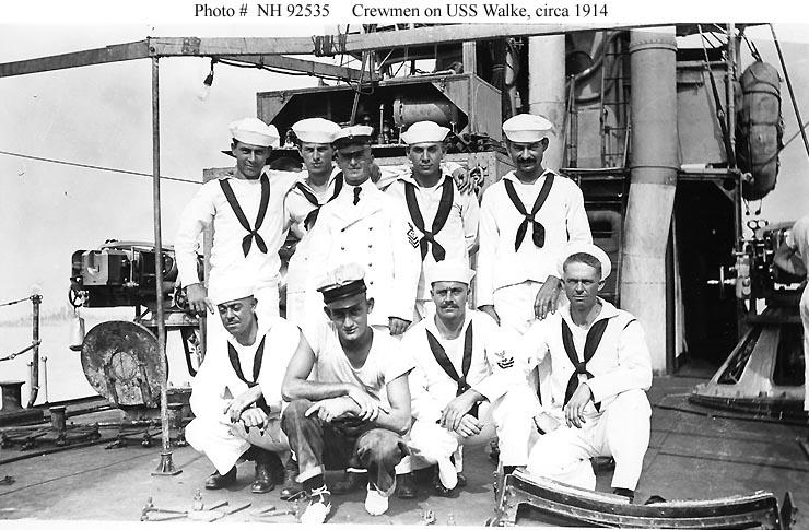 usn shipsuss walke destroyer 34 crew and