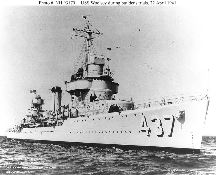 USS Woolsey (DD-437), 1941-1974