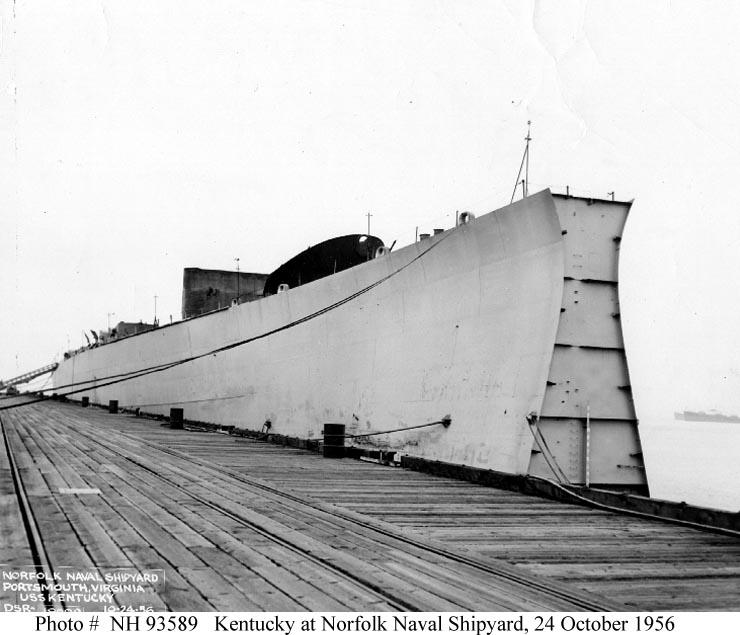Usn Ships Kentucky Bb 66