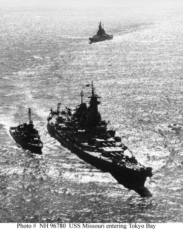 JAPAN CAPITULATES--Allied Fleet in Sagami Wan & Tokyo Bay