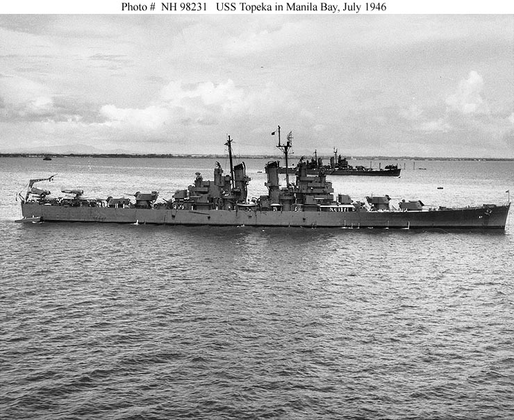 Usn Ships Uss Topeka Cl 67 Later Clg 8