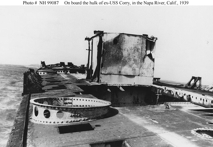 Usn Ships Uss Corry Dd 334 Ships Hulk After Disposal By The Navy