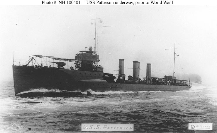 USN Ships--USS Patterson (Destroyer # 36, later DD-36)