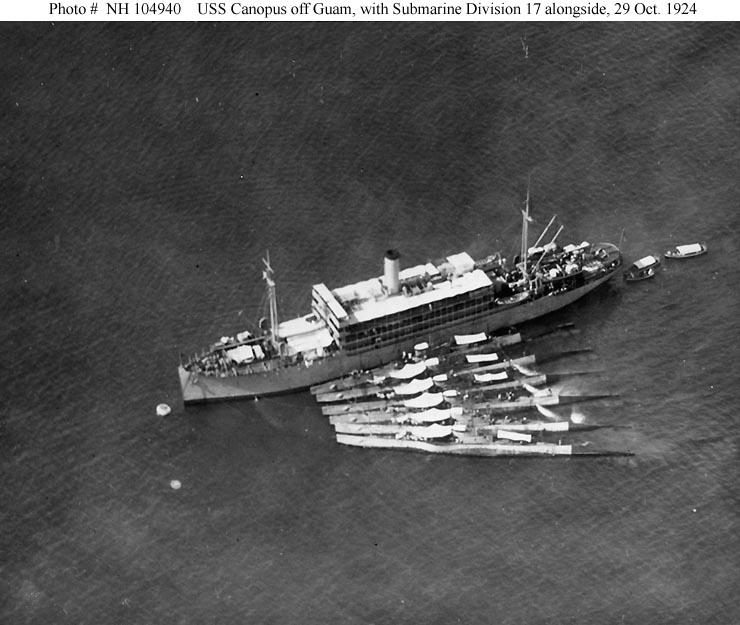 USN Ships--USS Canopus (AS-9). Originally USS Santa