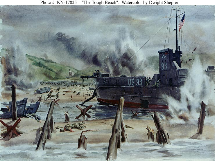 Normandy Invasion -- D-Day Landings on Omaha Beach, 6 June 1944