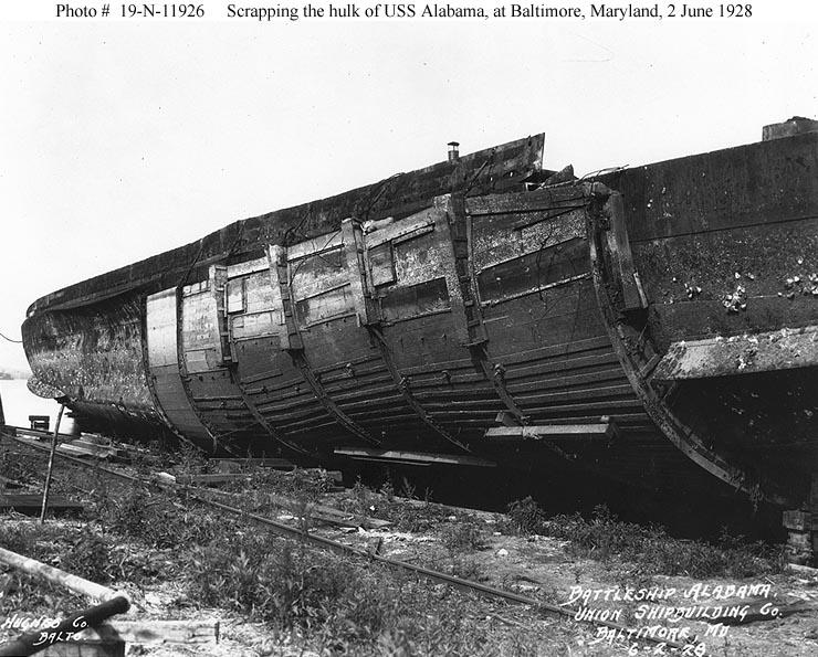 Usn Ships Uss Alabama Bb 8 As A Bombing Target 1921