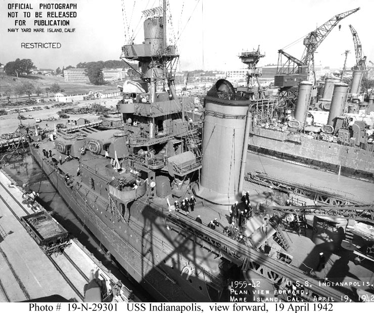 USN Ships--USS INDIANAPOLIS (CA-35) In 1942