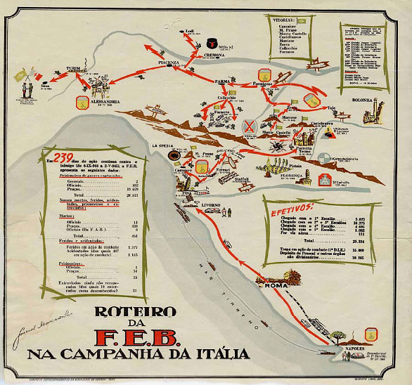 Hyperwar the brazilian participation in world war ii map bef campaigns in italy gumiabroncs Gallery