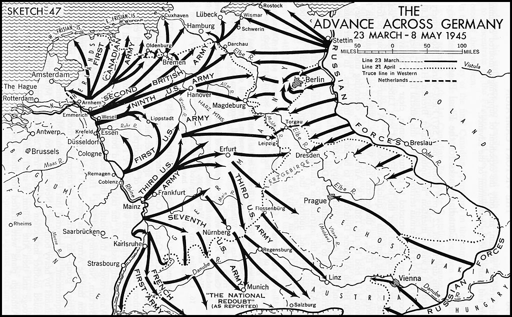 the advance across germany 23 march 8 may 1945