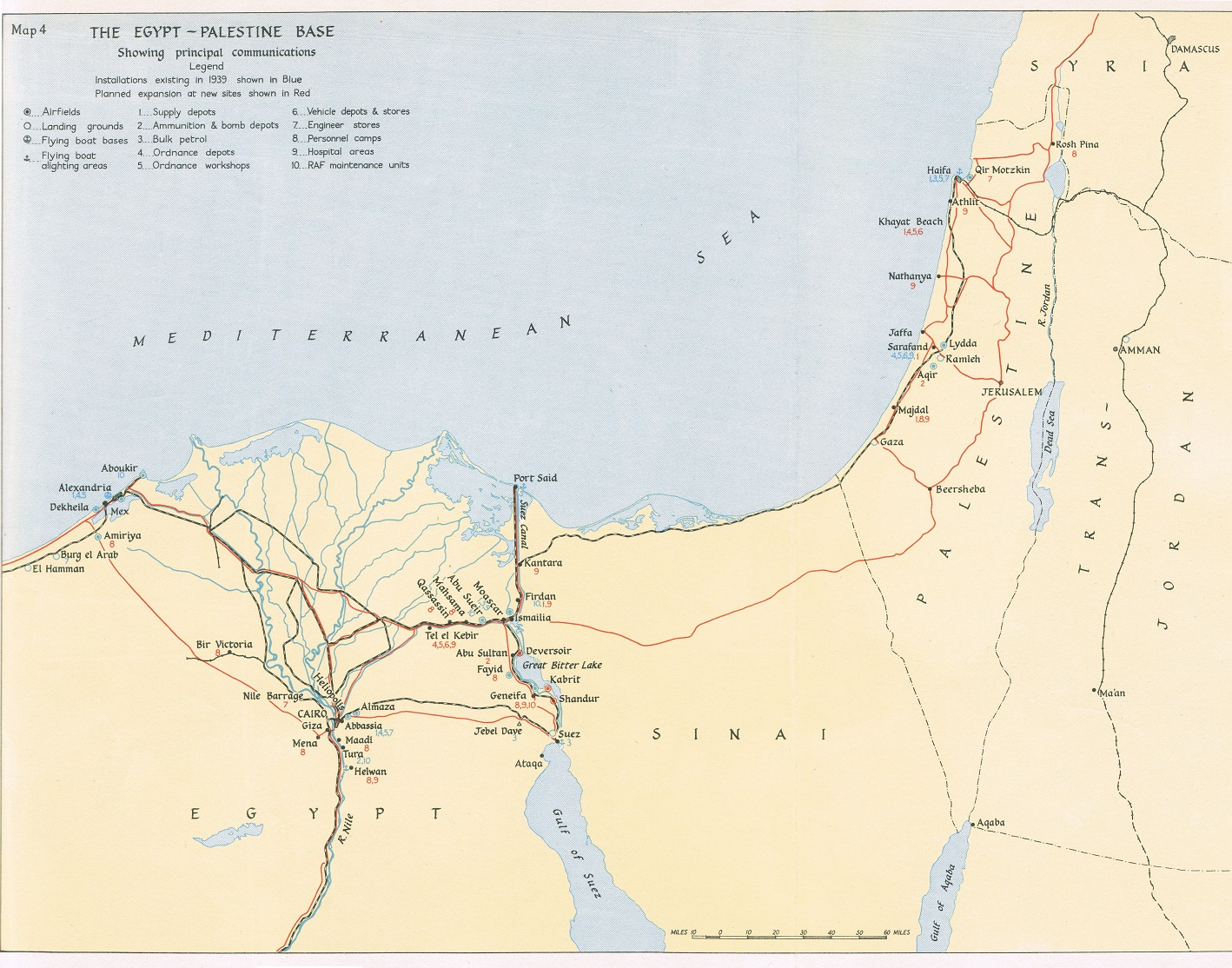 HyperWar The Mediterranean Middle East VolI Chapter IV - Map of egypt and uk