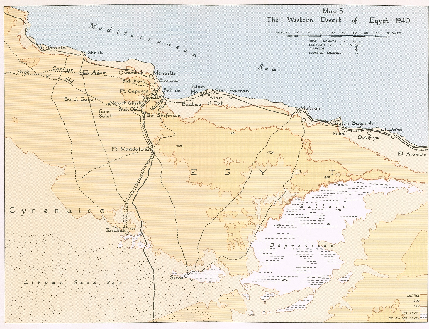 HyperWar The Mediterranean Middle East VolI Chapter XI - Map of egypt and uk