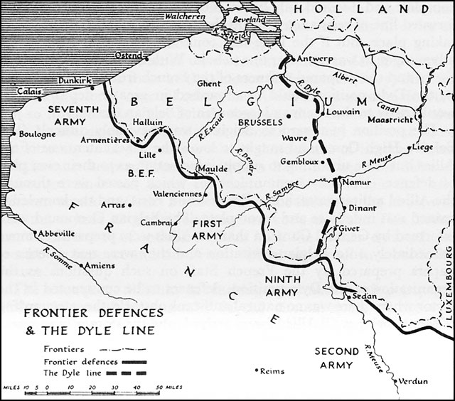 Map Of France 1940.Hyperwar The War In France And Flanders 1939 1940 Uk History Of