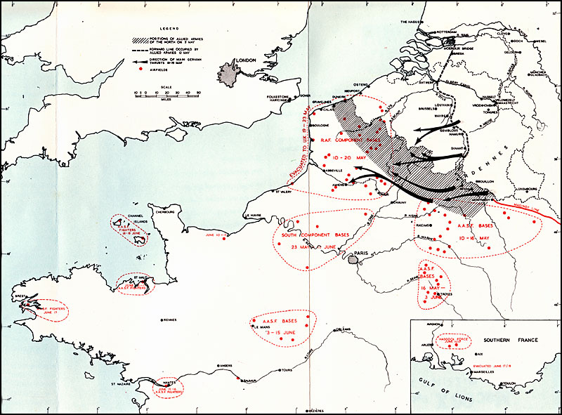 Air Force Bases In England Map.Hyperwar Royal Air Force 1939 1945 Volume I The Fight At Odds