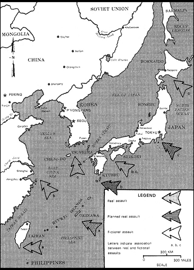 HyperWar Pastel Deception In The Invasion Of Japan - Japan map 6